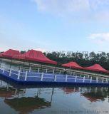 环保耐用的水上多功能塑料浮筒 水上游艇码头浮筒
