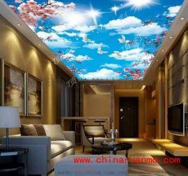青岛拉膜软膜天花由顶彩提供,室内透光膜吊顶美不胜收