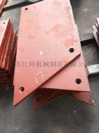 山东聚氨酯耐磨衬板 铬钼合金钢衬板 江苏江河机械