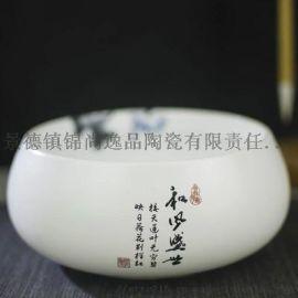景德镇陶瓷聚宝盆定制 办公室陶瓷聚宝盆工艺品摆件
