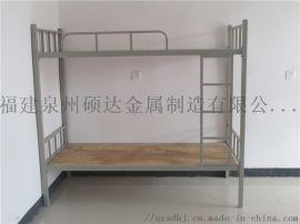 石狮铁床上下铺员工宿舍单人铁床高低床工地铁床