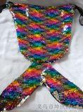 鱼尾巴抽绳包亮片布手拿包时尚精品