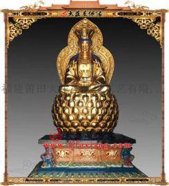 铜雕贴金观音菩萨