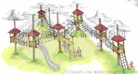 景区绳网蹦床 绳网探险设备 新型儿童空中绳网攀爬