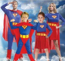蜘蛛侠、超人等亲子服装租赁