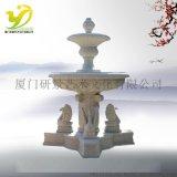 廠家直銷天鵝噴泉YJ-PQ-005仿石雕水鉢小區廣場園林噴泉