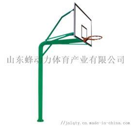 山东蜂动力体育器材厂家供应地埋式圆管篮球架