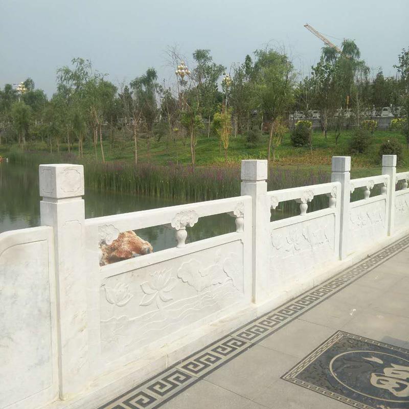 厂家直销草白玉栏杆-草白玉河道石栏杆桥梁护栏