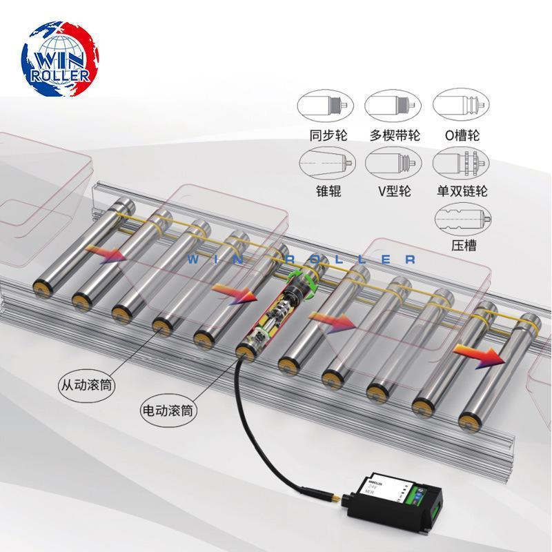 新华胜胜牌φ50直流电滚筒滚花DGBL50-B-24V-30W-500L-12M-X