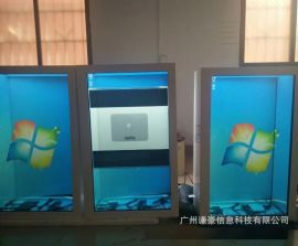 49寸55寸液晶透明顯示櫃透明廣告機透明櫥窗展櫃