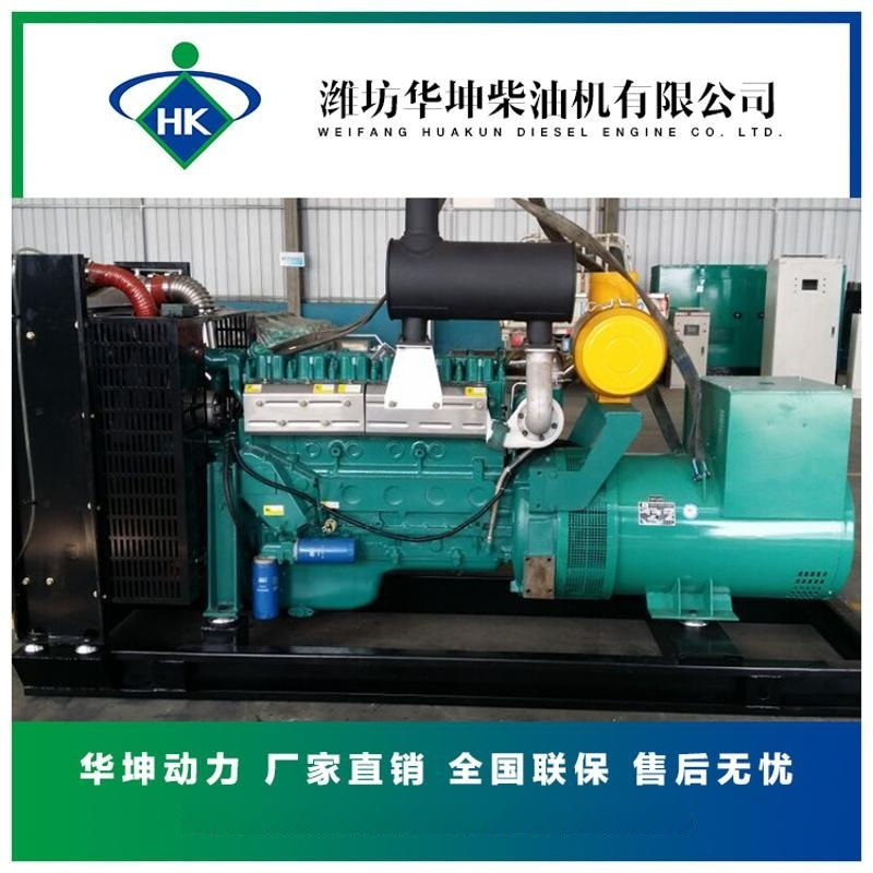 濰坊華坤200千瓦柴油發電機組200kw純銅電機電調六缸柴油機