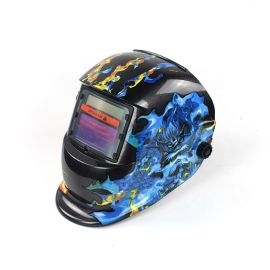 透气自动变光焊帽面罩太阳能