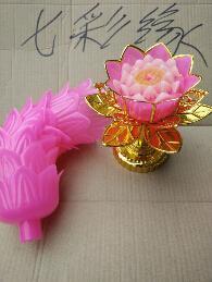 新款莲花蜡烛塑料底座,适用于喜庆节日