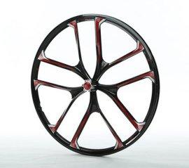 新款山地车一体轮轮组 22寸451镁合金一体轮毂 自行车轮轴