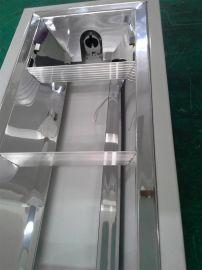 明裝單管T8格柵燈盤/LED鏡面鋁格柵燈盤
