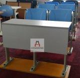 公司培训室桌椅 连排培训桌椅 自动回位课桌椅 固定式培训教学桌椅