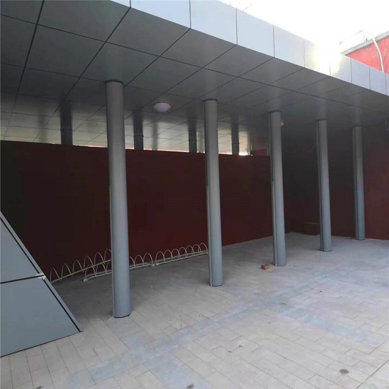 菱形冲孔包柱铝单板 银灰色门头铝单板包柱厂家