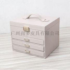 手提皮箱首饰盒欧式大容量饰品收纳盒珠宝箱真皮革手表