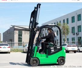 四轮电动堆高车 仓库堆垛车 小型集装箱液压叉车