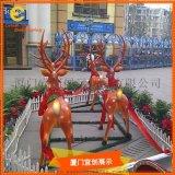 冬季圣诞节麋鹿雕塑 ,仿真雕塑  展览展示