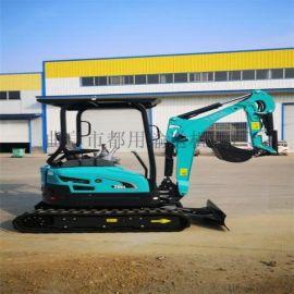 堆高机 国产小型挖掘机 都用机械自走式挖坑机