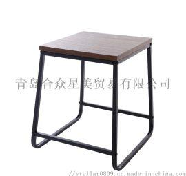 小凳子 小方凳 折弯方凳 铁木结合凳子