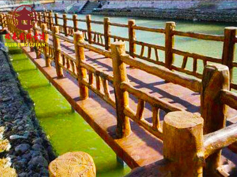 成都实木栏杆厂,河道公园防护栏厂家