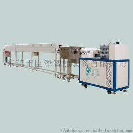 供应臣泽单色卧式硅胶挤出生产线 常规硅胶管挤出设备