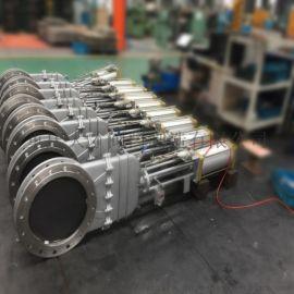 PZ673F不锈钢气动刀型闸阀,重庆气动闸阀厂家