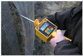 单针进口牧草水分温度檢測儀 黄色款燕麦草測水儀