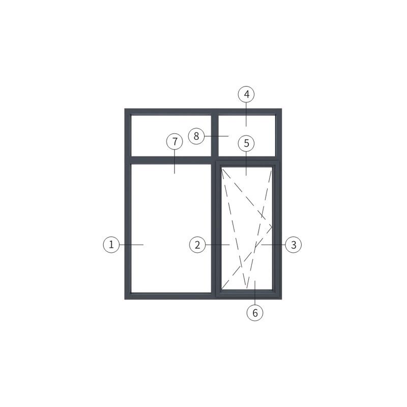 广东兴发铝材创高AL5918A B系列内开内倒窗