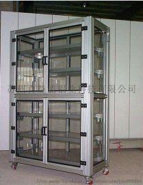 铝型材置物柜台子铝架子 铝合金储物柜 铝合金柜子机罩工作台定制
