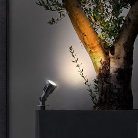 led户外投射 地   塑料防水草坪插地景观照树灯