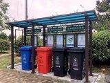 仿古广场垃圾分类亭安装图纸/垃圾亭厂家