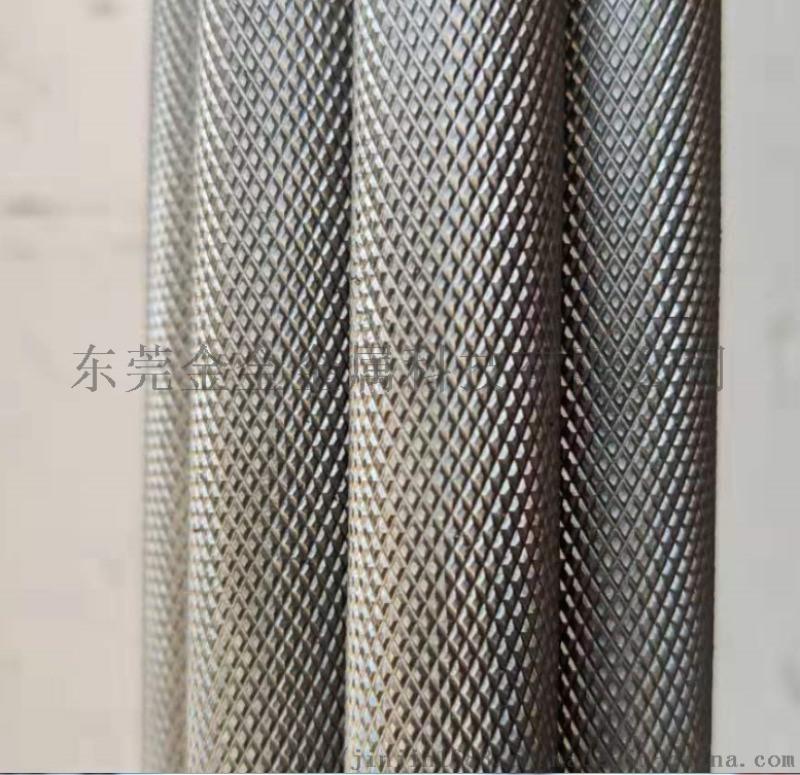 钻石纹滚花铝管 6063网纹拉花铝棒 直纹蕾丝铝棒