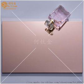 超精磨玫瑰金镜面板 镜面电梯板 墙面玫瑰金镜面板