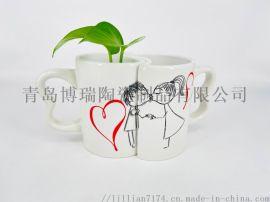 创意心形情侣陶瓷咖啡杯
