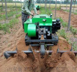 履带式开沟施肥机 新型果园开沟回填机