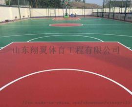 羽毛球场篮球场施工硅pu羽球场怎么施工法