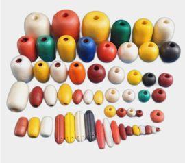 泡沫浮球PVC浮球拉网渔网浮球浮子圆柱长形浮球