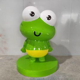 惠州玻璃钢厂家供应卡通公仔雕塑室内动物摆件一件起批