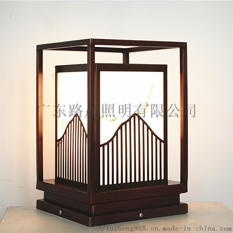 電鍍拉絲柱頭燈  拉絲景觀燈 拉絲庭院燈
