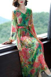 恩迪丝2020春夏新款套头中长款裙子服装货源在哪