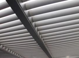 上海户外机翼式梭形电动遮阳百叶厂家