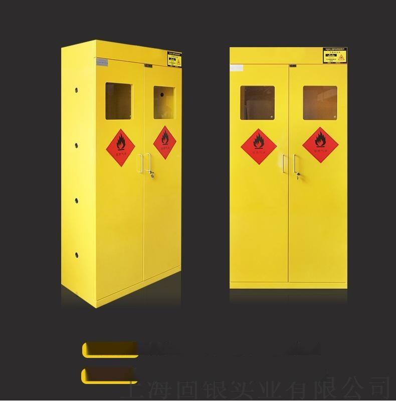 固银实验室气瓶柜气体安全储存柜全钢双瓶气瓶柜