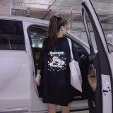 网红反光独角兽短袖t恤女夏韩版宽松ins超火学生原宿风半袖上衣服