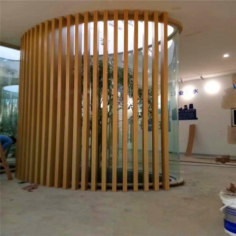 墙身隔断铝方通 背景墙木纹铝方管