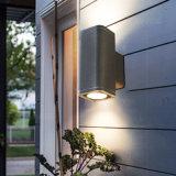 阳台墙壁灯外现代COB壳双头防水庭院灯走廊创意壁灯