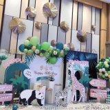 清远奶茶店周岁宴布置生日派对布置气球装饰策划