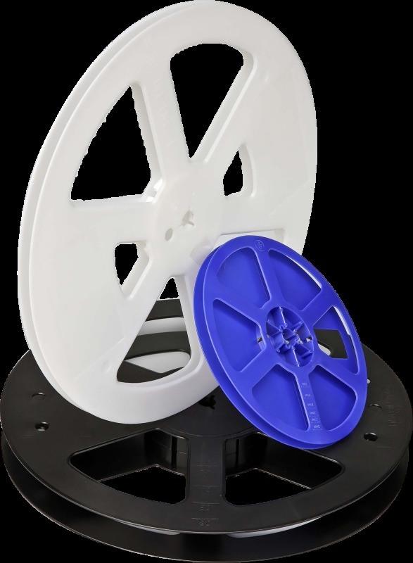 7寸8mm寬塑膠捲盤 佛山藍/白色塑膠捲盤